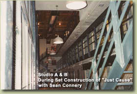 "STUDIO A&B DURING SET CONSTRUCTION OF ""JUST CAUSE"""